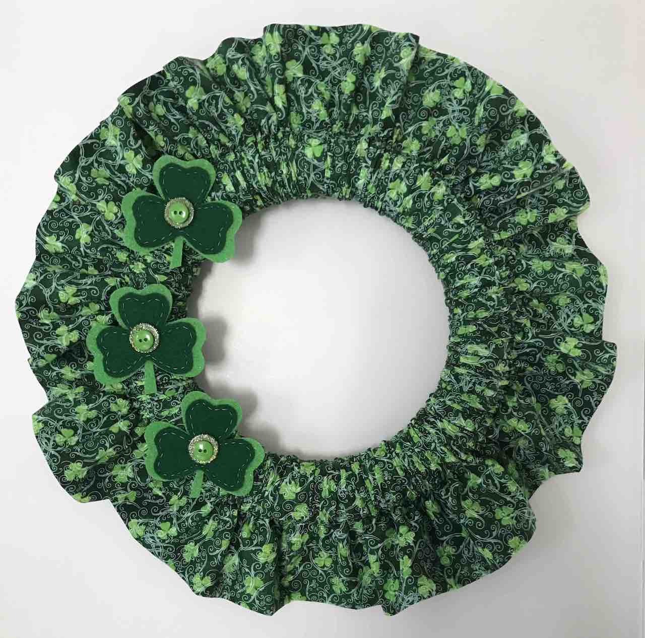 St-Patricks-Day-Holiday-Fabric-Wreath by Clever Little Mouse