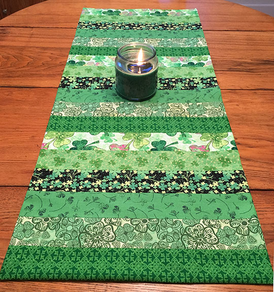 shamrock-table-runner by Creative Little Mouse