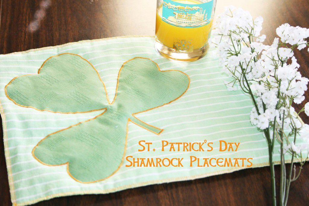 St. Patrick's Day Shamrock Placemats by Sewing Parts Online