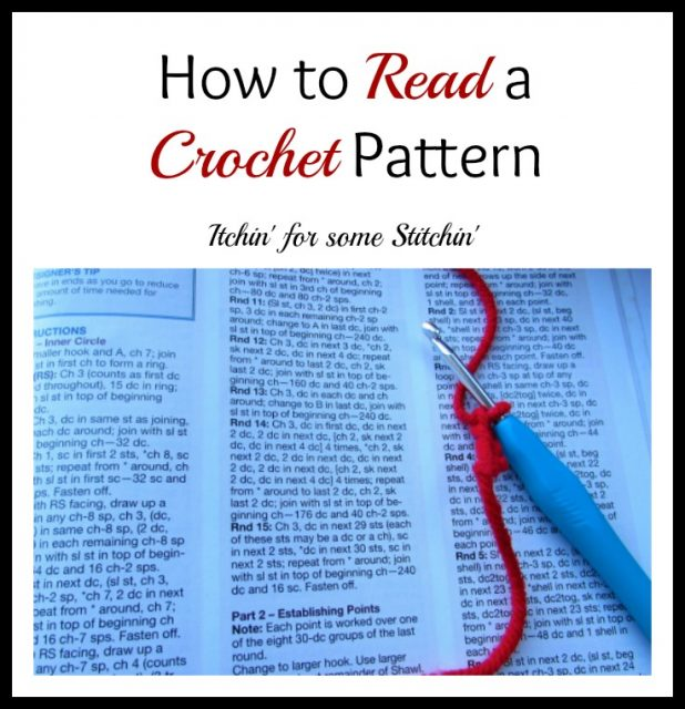 How To Read A Crochet Pattern Itchin For Some Stitchin
