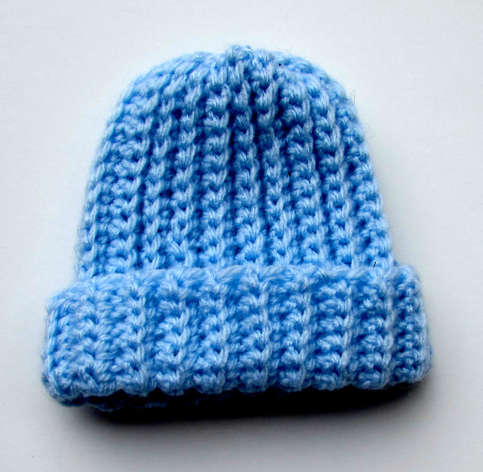 Free Easy Crochet Ribbed Baby Beanie Pattern for Beginners