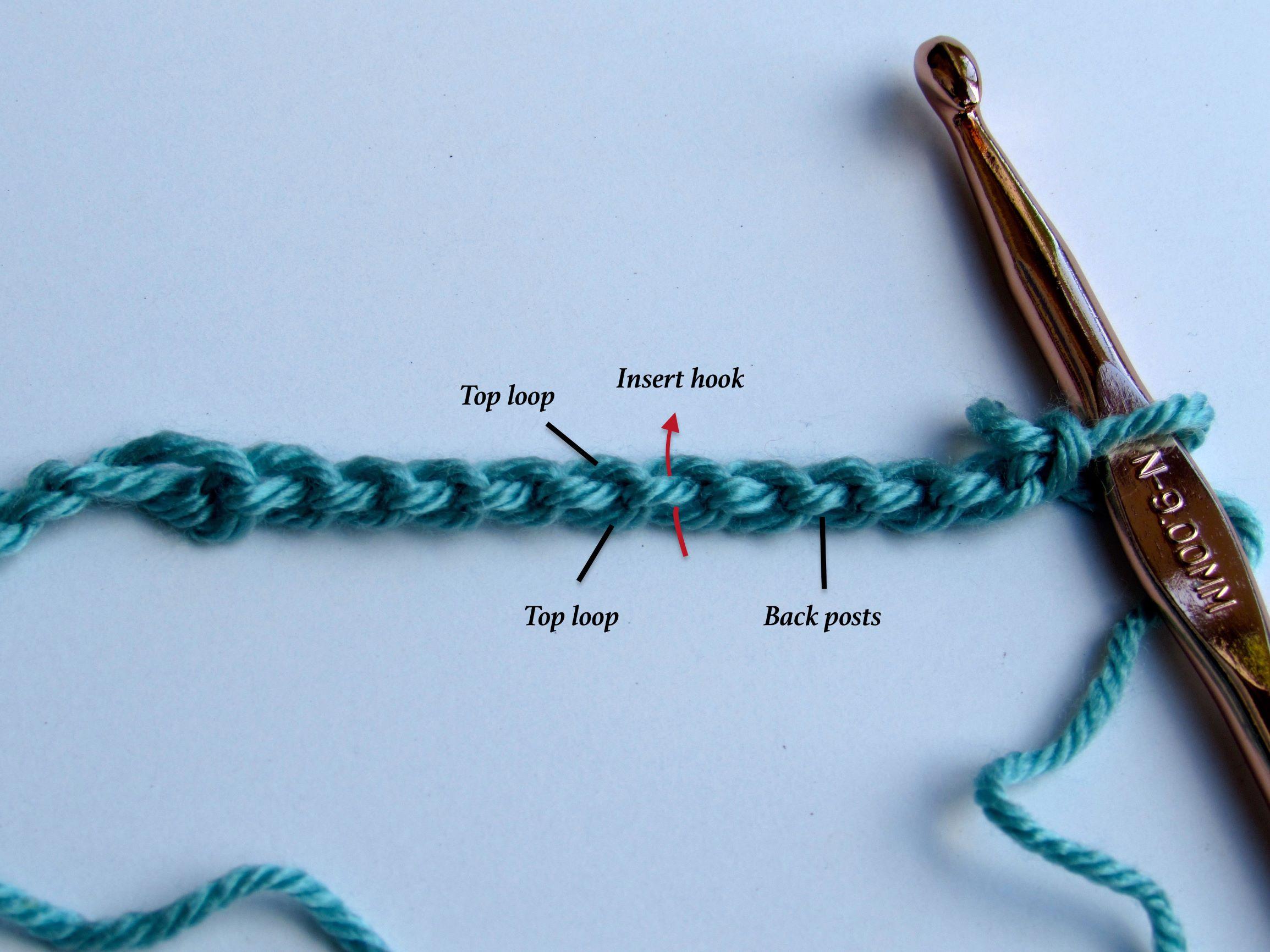 9 basic crochet steps
