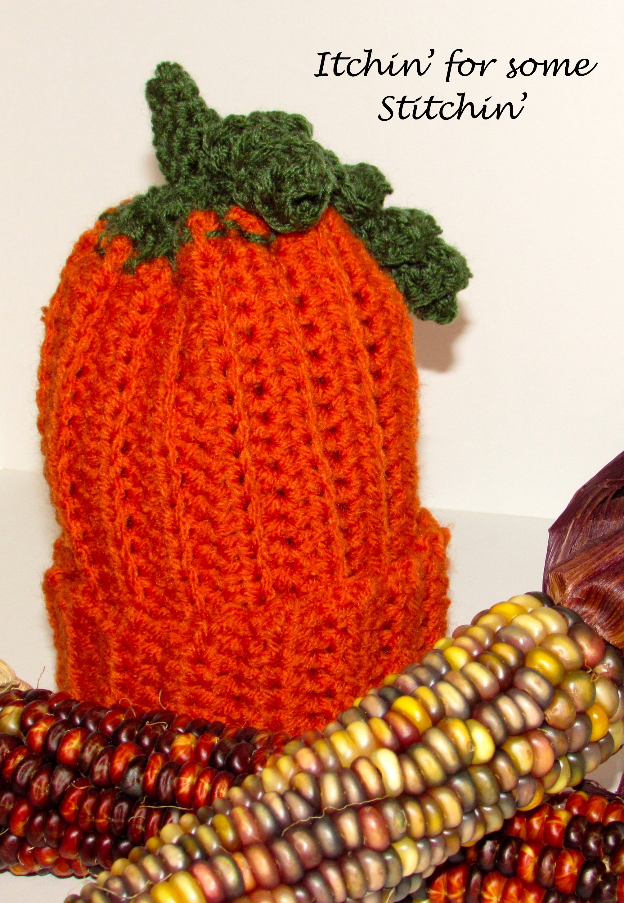 Free Pattern Easy Crochet Pumpkin Baby Beanie Itchin For Some
