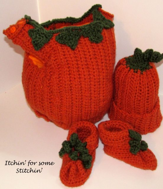 Crochet Pumpkin Costume by Itchin' for some Stitchin'