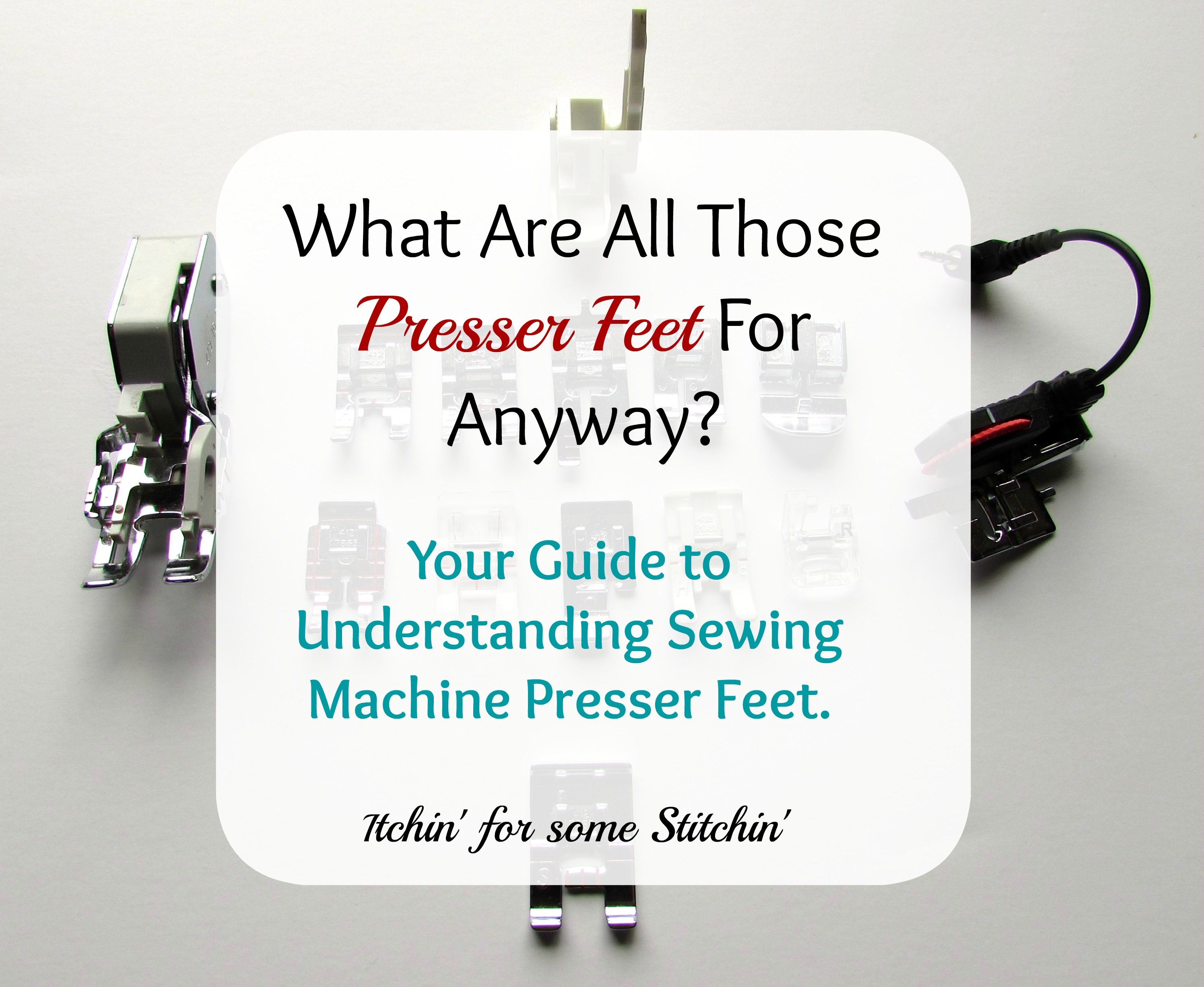sewing machine presser foot guide