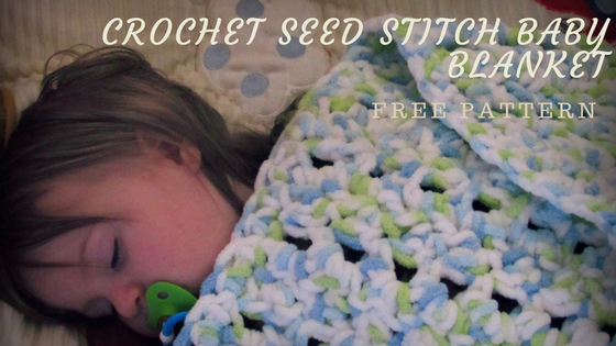 Crochet Seed Stitch Baby Blanket Pattern Itchin For