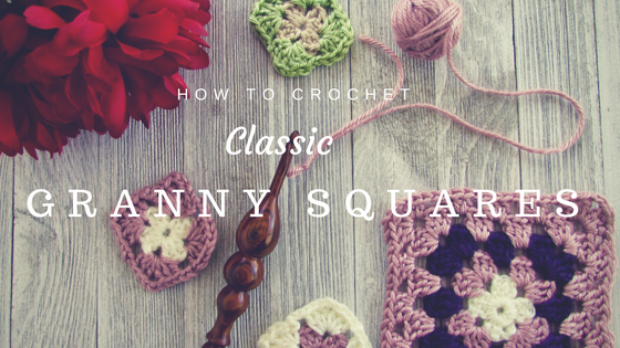 How to Crochet a Classic Granny Square by https://www.itchinforsomestitchin.com