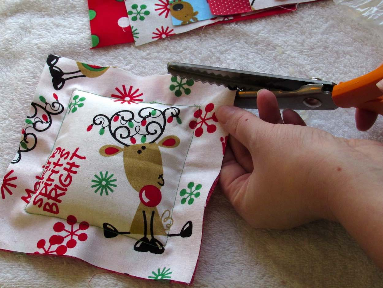 Cut with pinking shears for decorative trim on scented sachets by www.itchinforsomestitchin.com