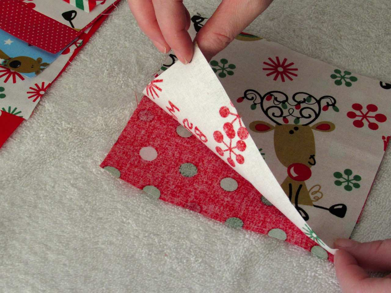 Squaring up fabric squares for scented sachets by www.itchinforsomestitchin.com