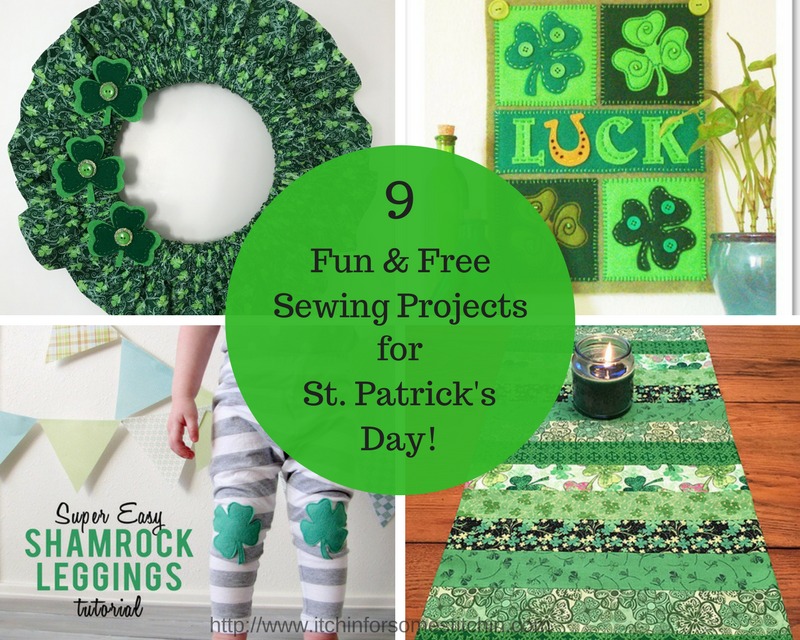 St. Patrick's Day Sewing Projects Roundup by https://www.itchinforsomestitchin.com