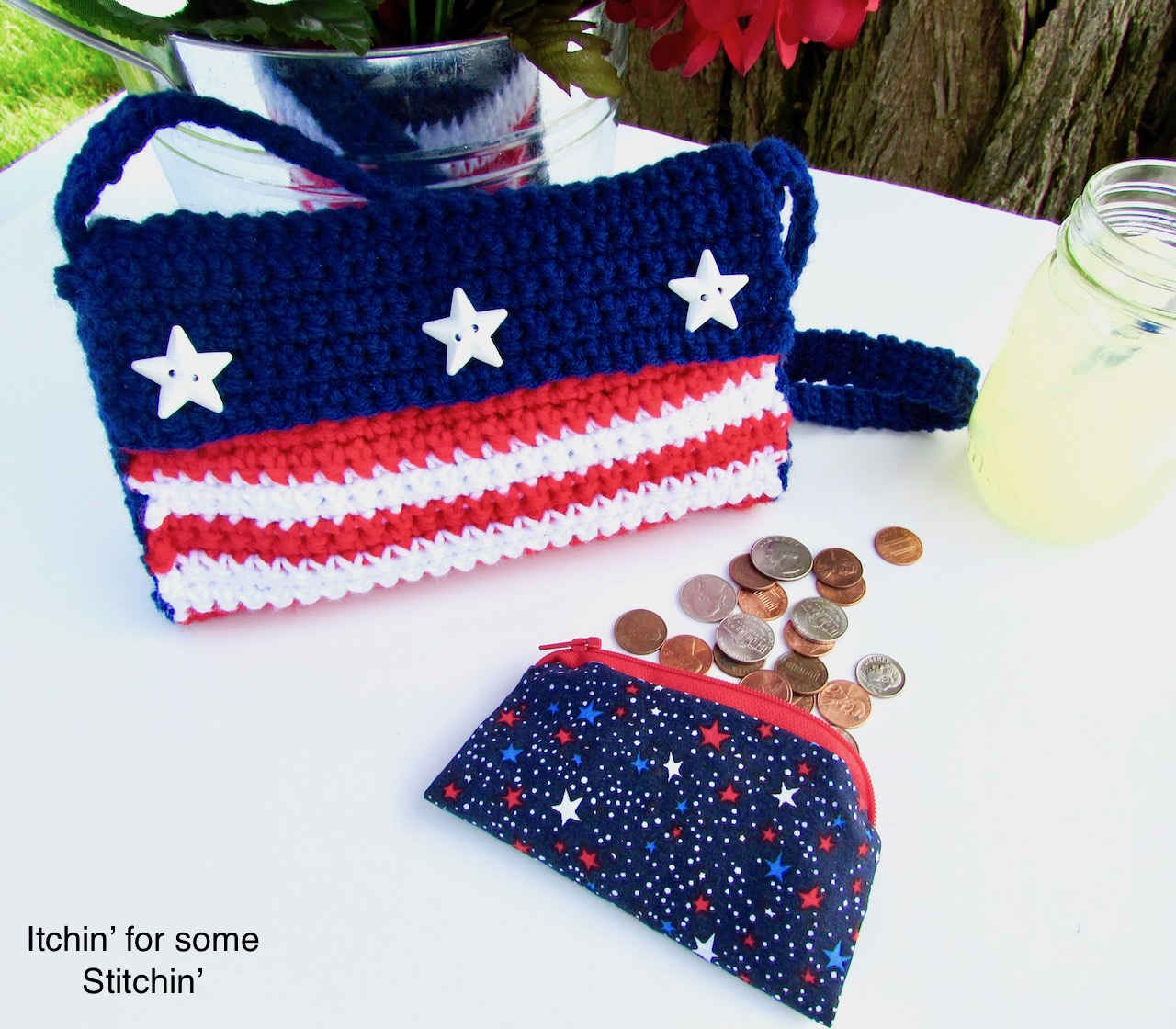 Crochet Fourth Of July Purse Itchin For Some Stitchin