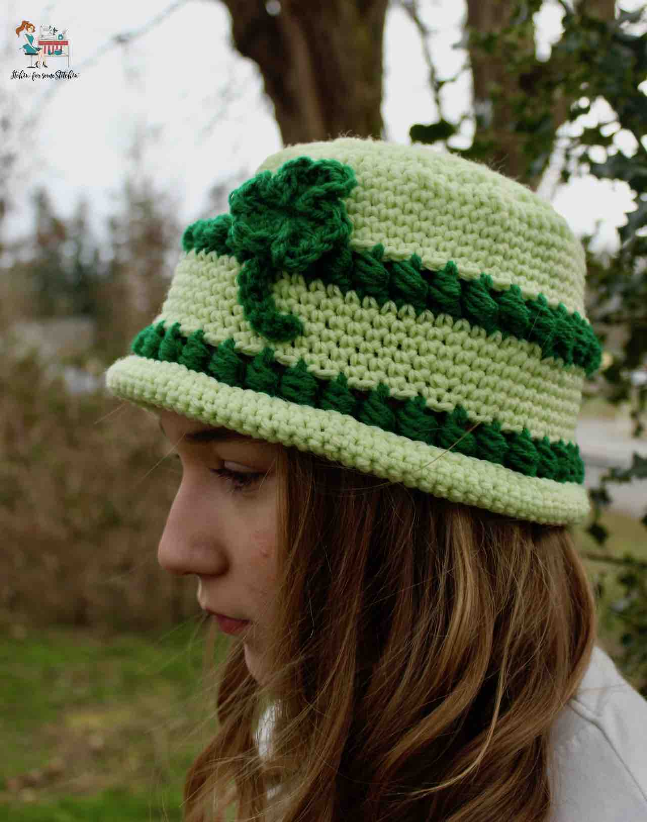 St. Patrick's Day Bowler Hat pattern by www.itchinforsomestitchin.com