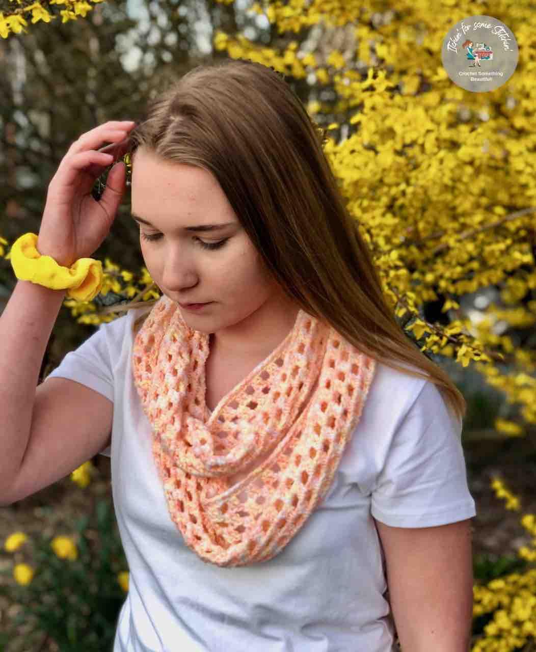 Spring Modern Granny Infinity Scarf by Itchin' for some Stitchin'