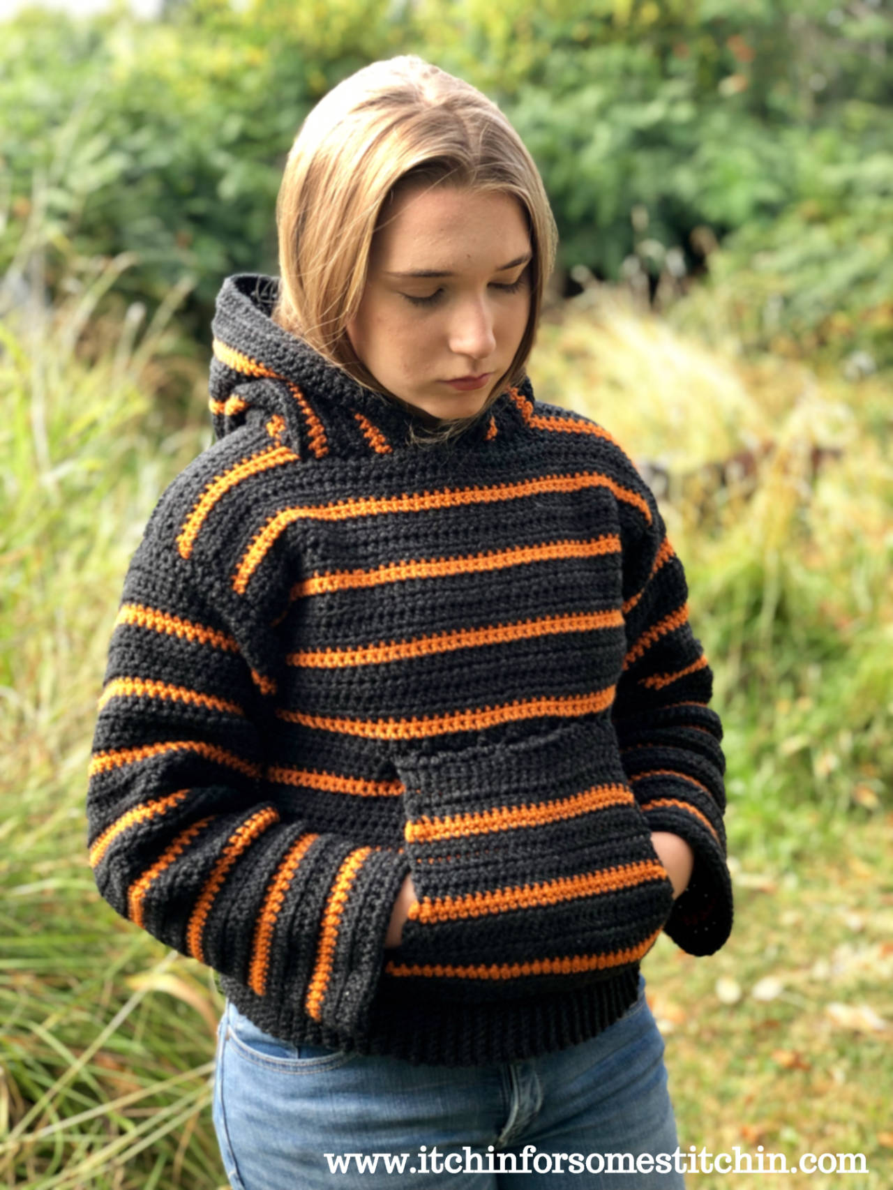 Cozy Campfire Striped Hoodie Sweater