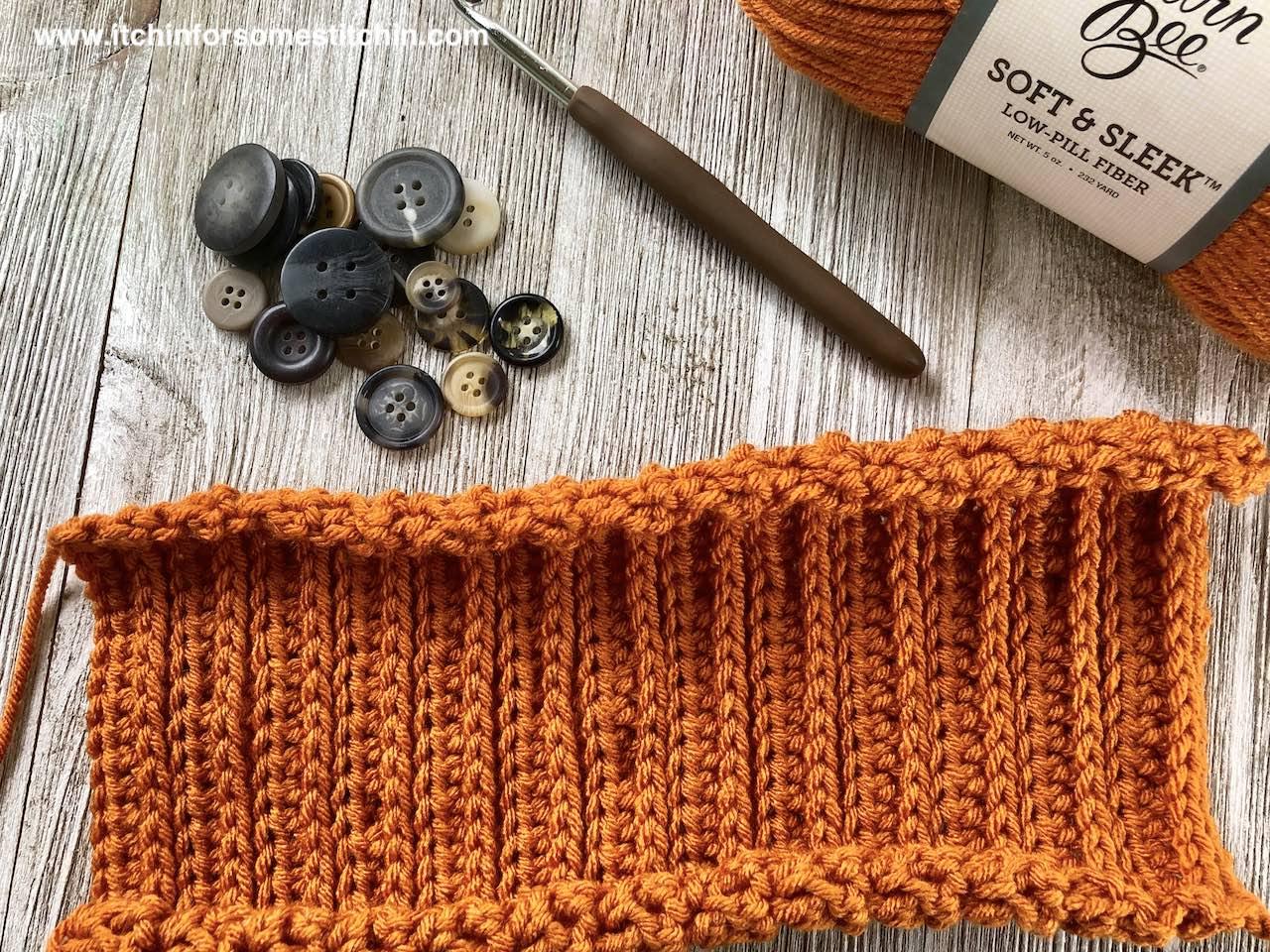 Crochet Pumpkin Baby Hat in progress by www.itchinforsomestitchin.com