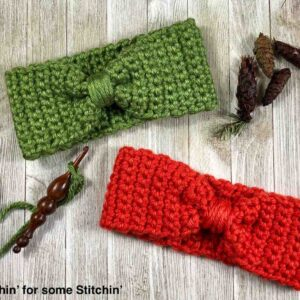 Chunky Bowtie Ear Warmer Pattern