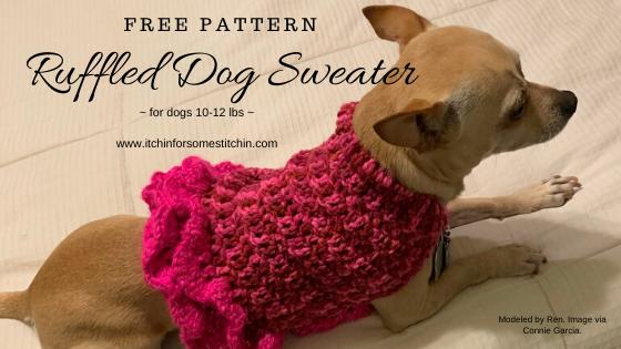 Small Dog Sweater Free Crochet Pattern by www.itchinforsomestitchin.com