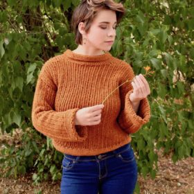 Easy Crochet Knit-look Sweater Pattern by itchinforsomestitchin.com