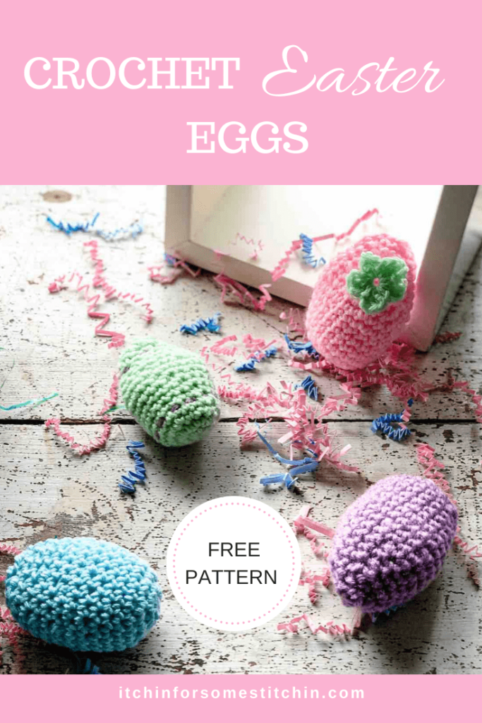 Easy Crochet Easter Eggs Pattern by itchinforsomesitchin.com