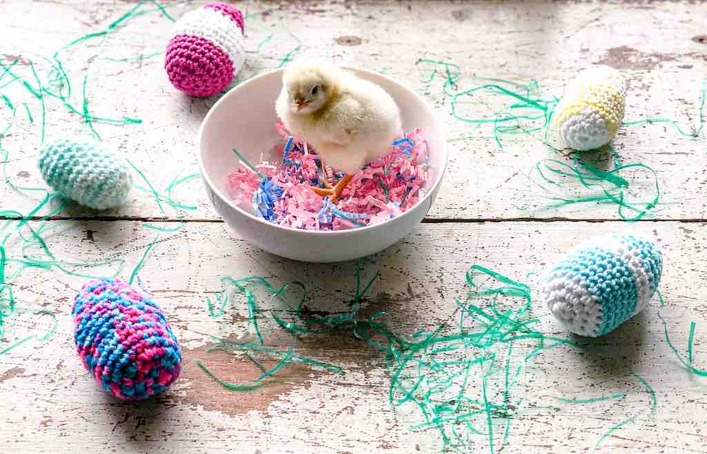 How to Crochet Easter Eggs by itchinforsomestitchin.com