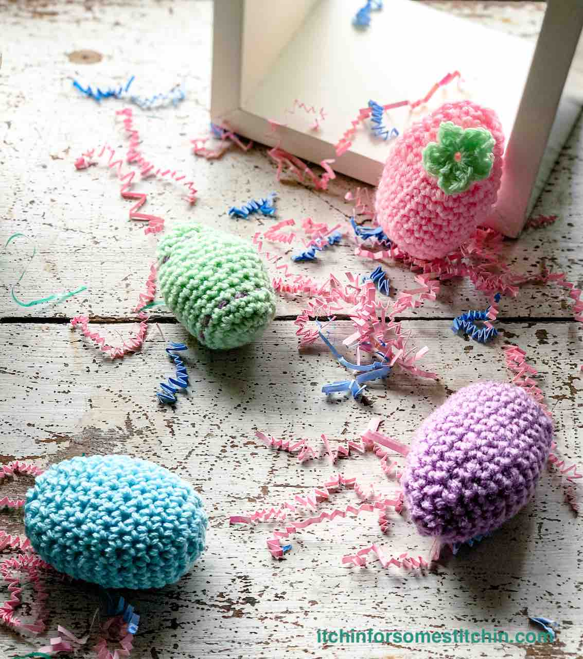 Crochet Easter Eggs by Itchin' for some Stitchin'