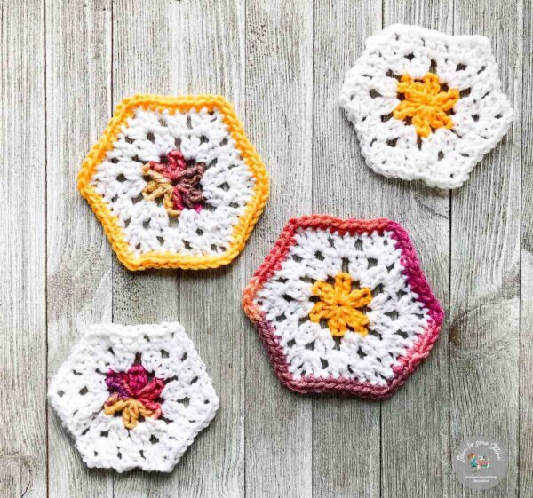 Crochet Granny Hexagons Tutorial by itchinforsomestitchin.com