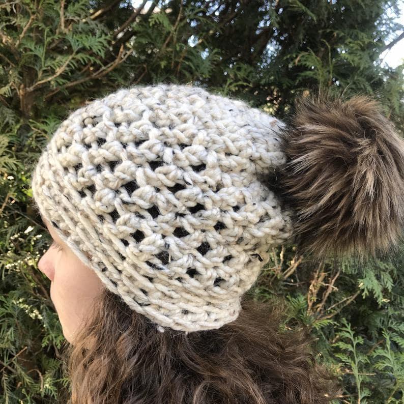 crochet freedom beanie