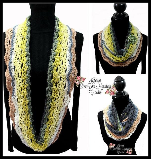 ladies mirrored fan scarfs