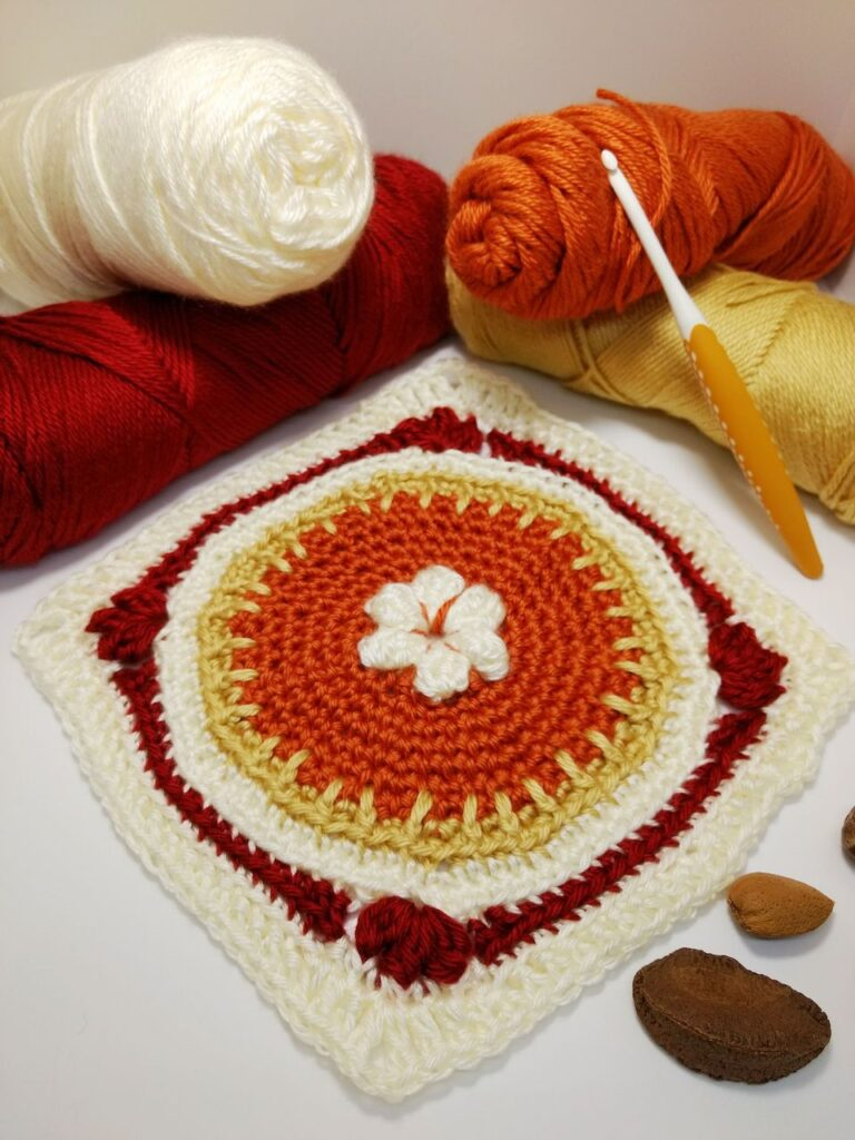 crochet square pie