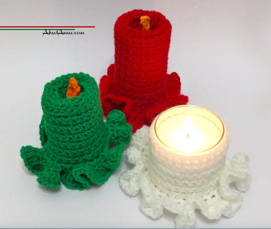 crochet vintage candles