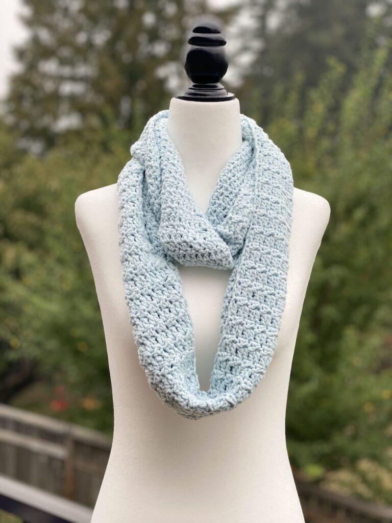 Crochet Crystalline Infinity Scarfs