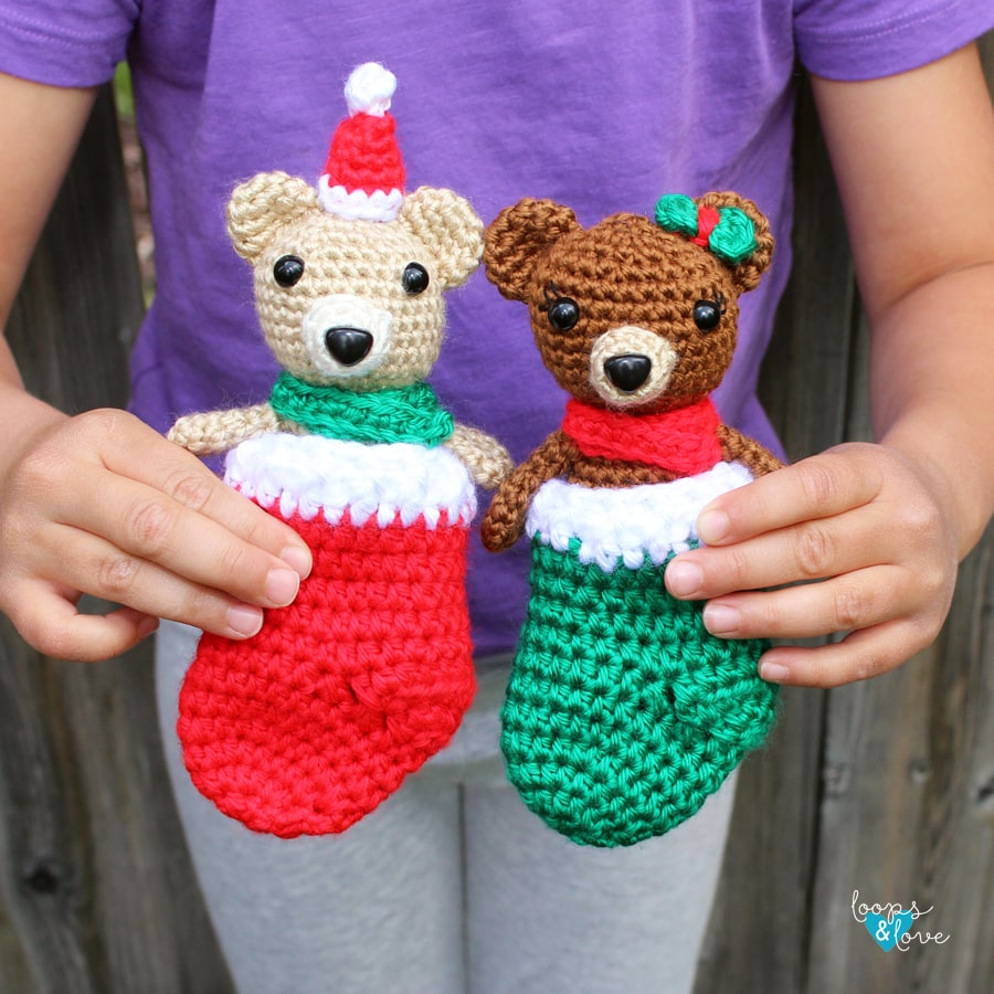 Crochet mini bears