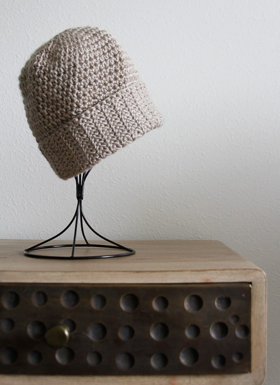 crochet spider stitch double brimmed hat