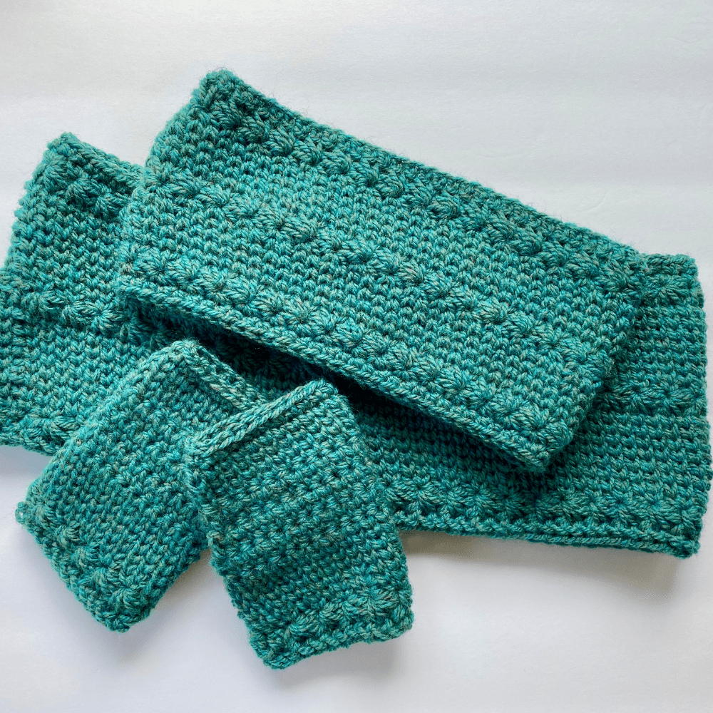 crochet star stitch trio