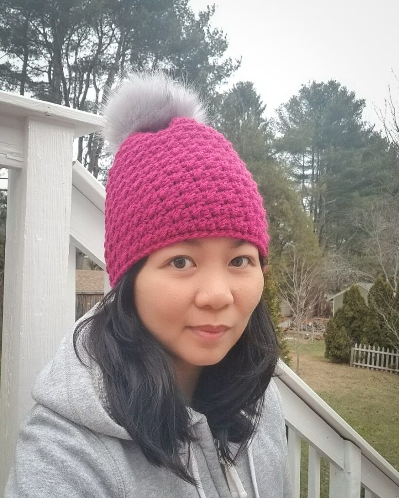 crochet winter break beanie