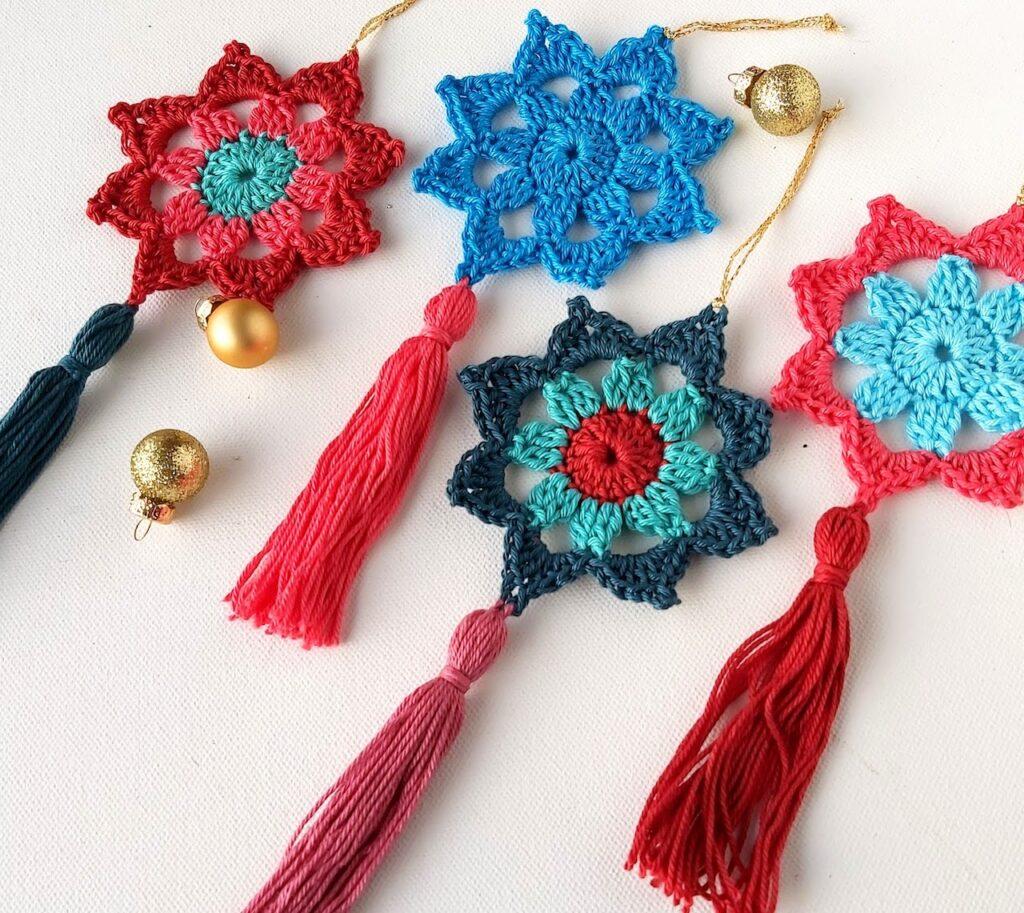Crochet Tassel Stars