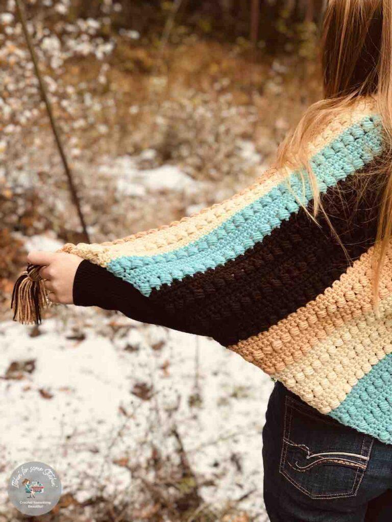 Crochet Bead Stitch Triangle Shawl by Itchin' for some Stitchin'