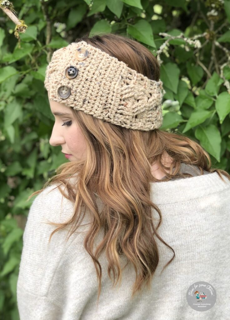 simply classic cable ear warmer