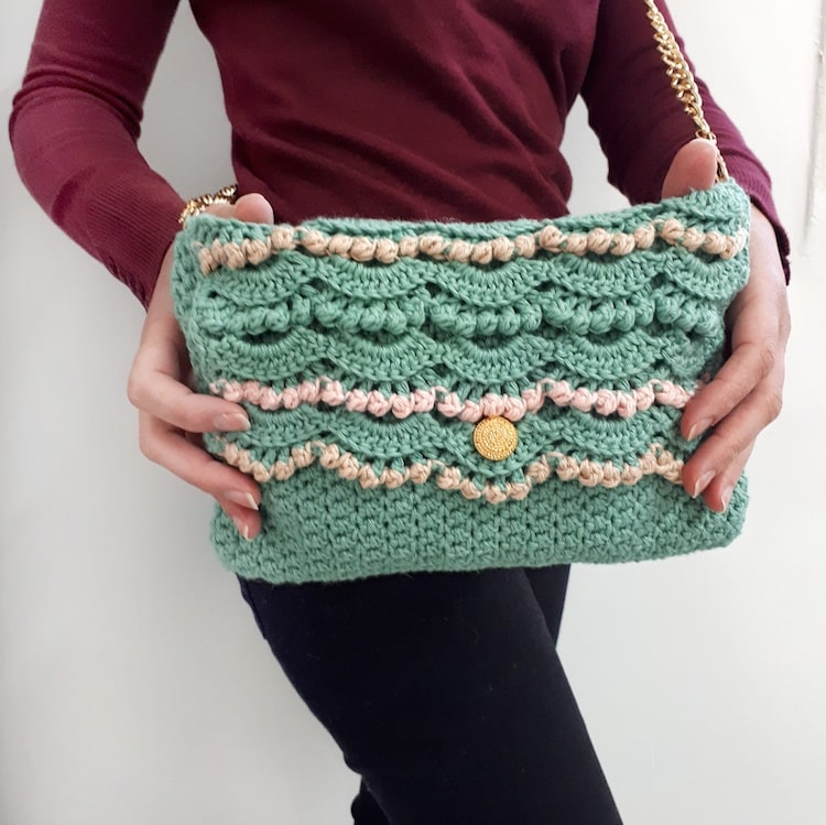 Pearls of the Sea Clutch by Made by Gootie
