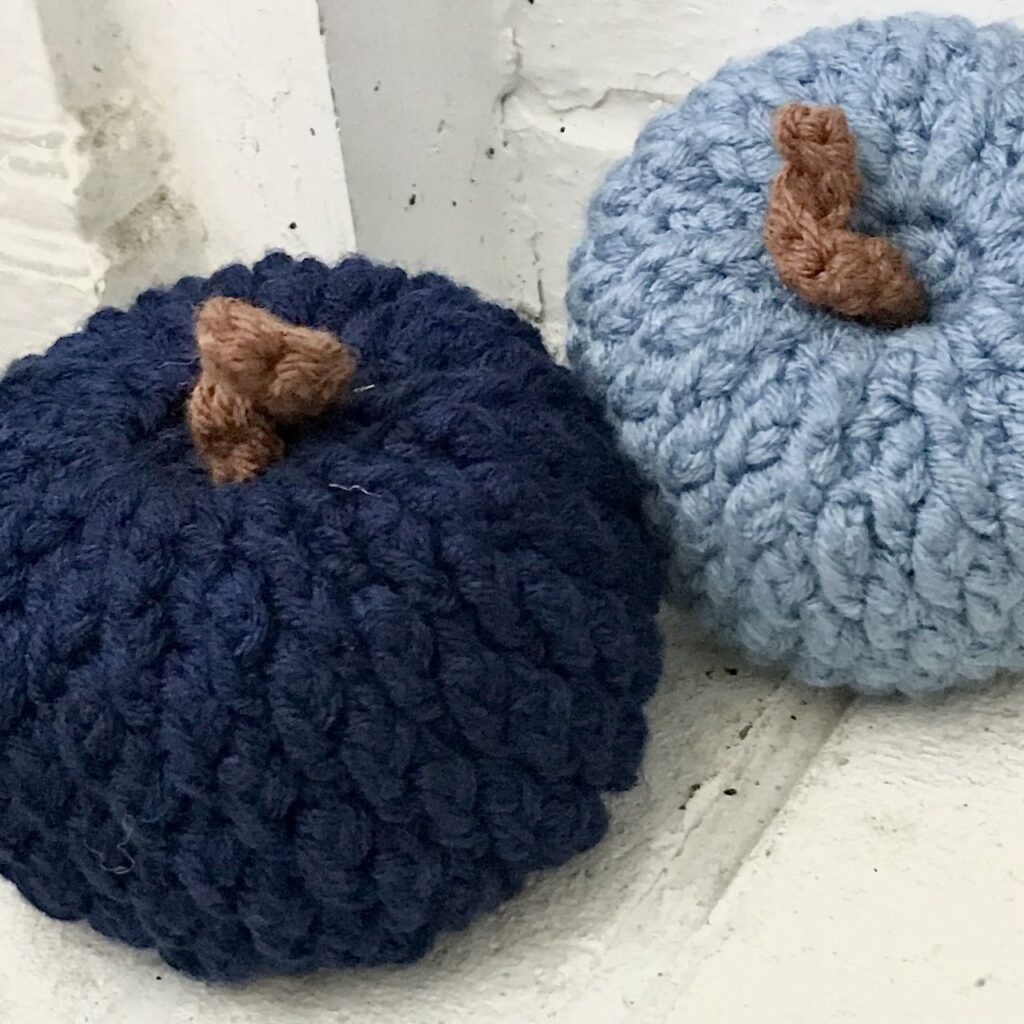 The Cozy Alpine Crochet Pumpkins by Juniper and Oakes