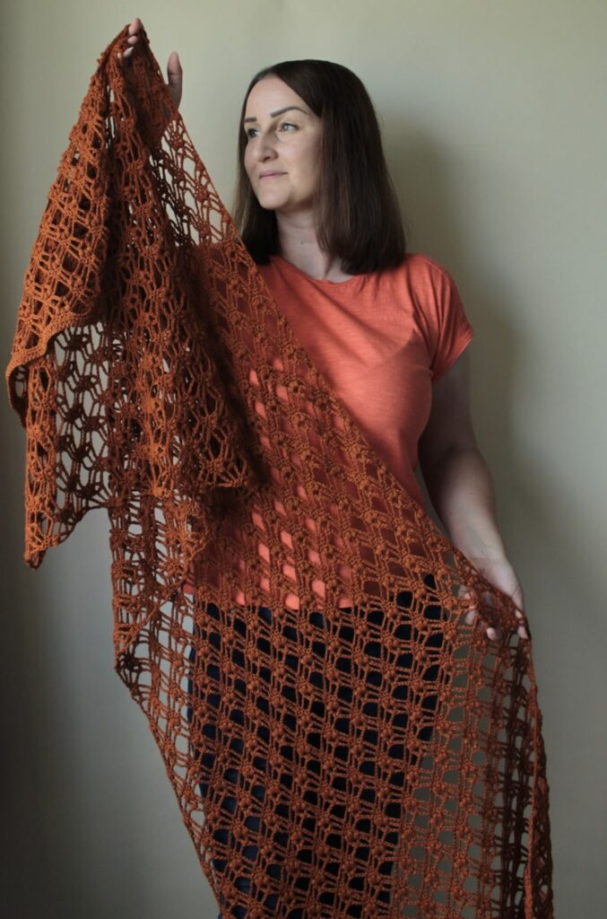 The Autumn Jewells Crochet Shawl by Blue Star Crochet