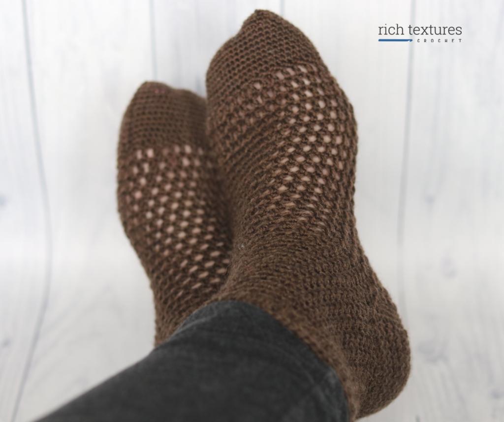 The Autumn Stroll Crochet Socks by Rich Textures Crochet