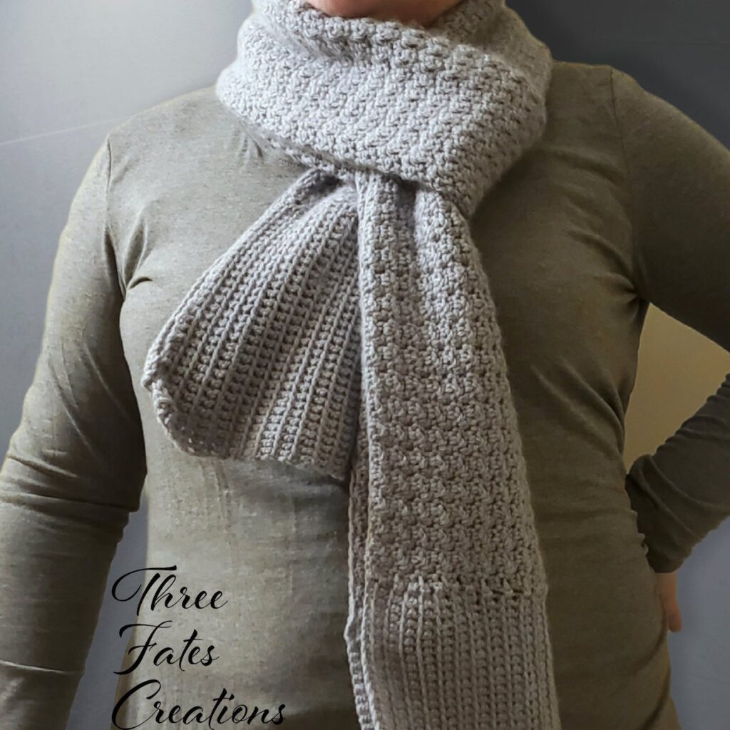The Cozy Crochet Fall Scarf by Three Fates Creations
