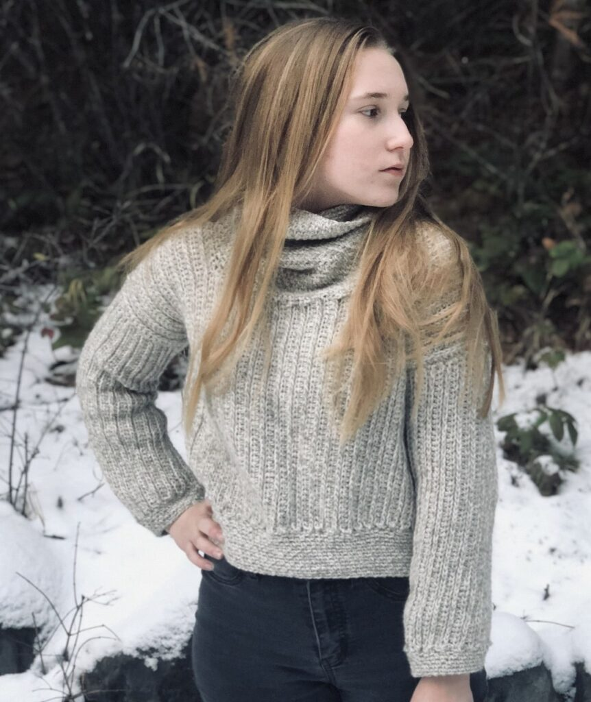 The Moravia Crochet Cowl neck Sweater by Itchin' for some Stitchin'
