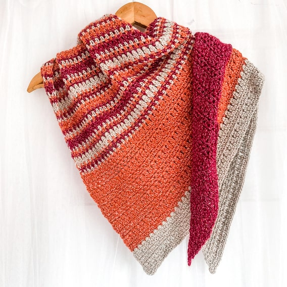 The Autumn Meadow Crochet Shawl by Ned & Mimi