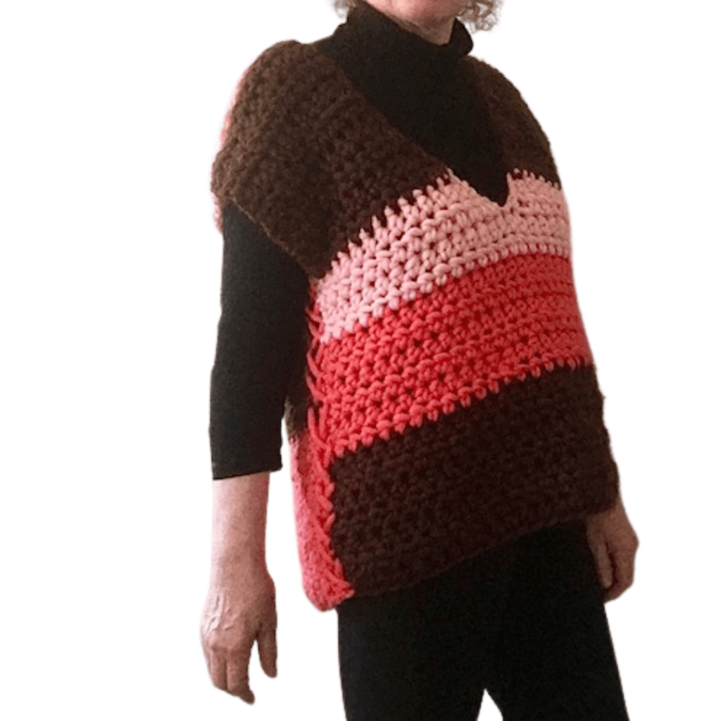 The Fabulous Chunky Sweater Crochet Vest by Carroway Crochet