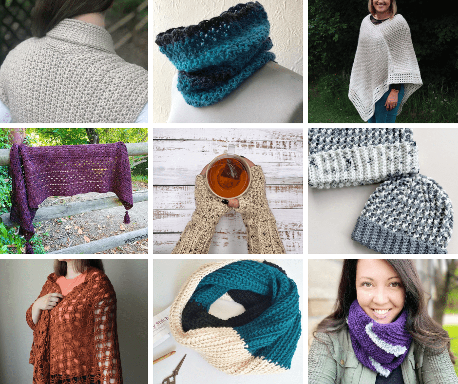 Fall Into Autumn Crochet Pattern Collage