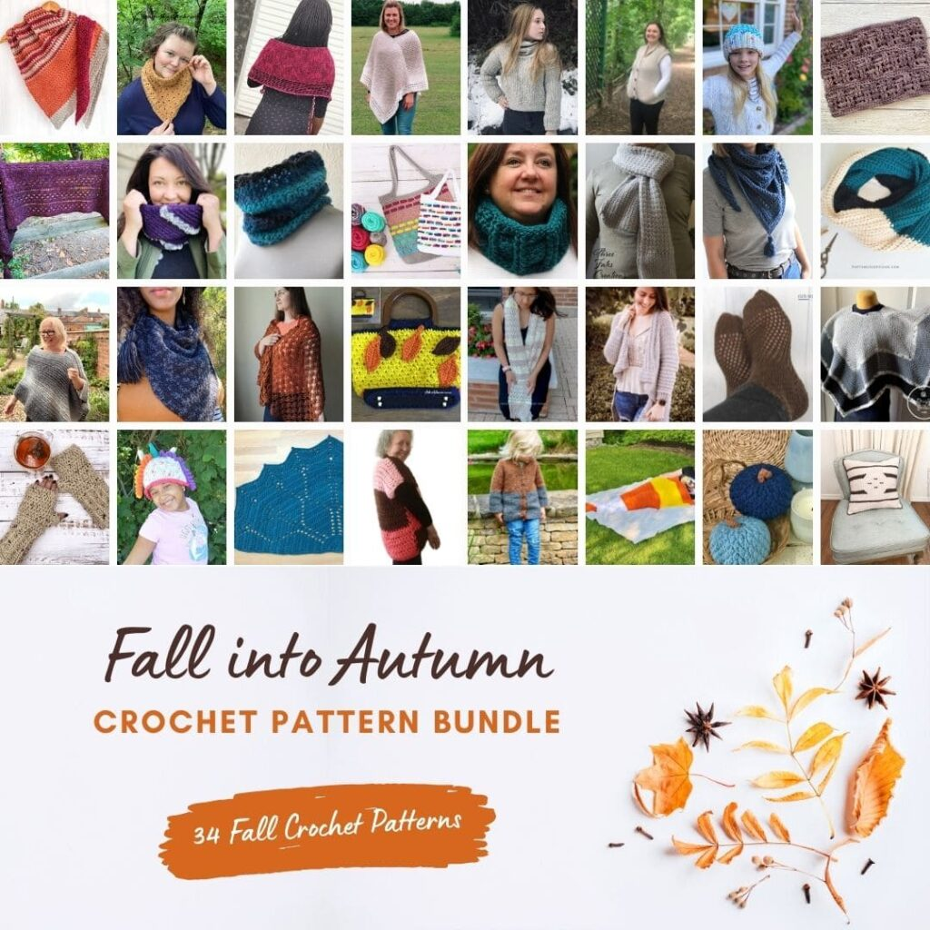 34 Crochet Patterns in the Fall Into Autumn pattern bundle