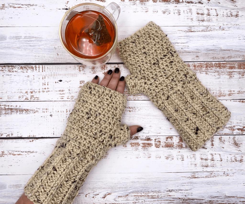 The Galloway Crochet Fingerless Gloves