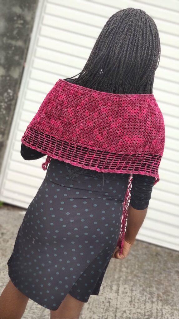 The Jasmine Crochet Wrap by Fosbas Crochet